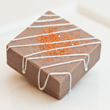 Chocolate Orange Truffle Buffer Exfoliating Bar from SoapyBliss Bath & Body Bakery