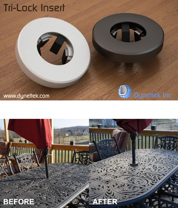 A Universal Patio Table And Umbrella Insert