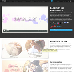final cut pro wedding templates - pixel film studios announced the release of harmonic joy
