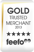 Gold Trusted Merchant Feefo Award for Beads Direct