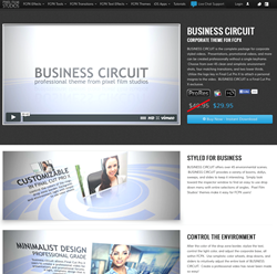 FCPX Templates - Final Cut Pro X Themes - Pixel Film Studios Plugins and Effects - Business Circuit Theme