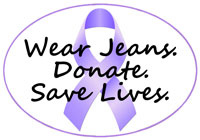 cancer awareness, donate, graduation, blue jeans