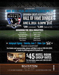 Gridiron Great Assistance Fund Hall of Fame Dinner on June 6 in Las Vegas