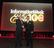 Niraj Jetly (r), NutriSavings SVP CIO/COO, receives award from Rob Preston, VP & Editor in Chief, Information Week