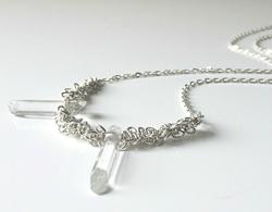 Trailblazer Quartz Crystal Necklace from greatrockmoon.etsy.com