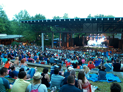 Seating capacity for Cain Park's Evans Amphitheater is 2500.