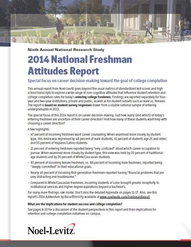 the ways to increase the success of incoming college freshmen