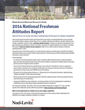 Noel-Levitz Releases Ninth Annual National Freshman Attitudes Report...
