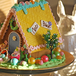 Spring Gingerbread House from The Solvang Bakery - perfect Easter gifts