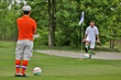 FootGolfer on the green