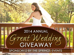 The Great Wedding Giveaway is Back at The Springs Events for 2014