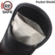 Cell phone pocket shield stops wifi  hacking and shields cell phone radiation