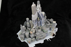 3D printed futuristic city. Source: WhiteClouds
