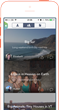 Tripstr app view of friends' travel stories