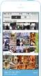 Tripstr app view of user choosing a range of photos for a story