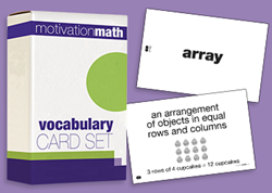 Mentoring Minds Motivation Math Vocabulary Card Set