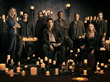 (L-R): Elizabeth Mitchell, JD Pardo, Zak Orth, Billy Burke, Giancarlo Esposito, Stephen Collins, Tracy Spiridakos, and David Lyons star in REVOLUTION, airing Wednesdays 8/7c on NBC.