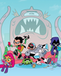 (L-R): Starfire, Robin, Beast Boy, Cyborg and Raven are the Teen Titans in the comedic animated adventure Teen Titans Go!, airing Wednesday nights 6:30/5:30c on Cartoon Network.