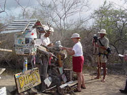 Floreana Island's Post Office, one of the Galapagos Islands' heritage sites