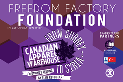 Freedom Factory Foundation Supports Syrian Refugees