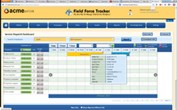 Field Service Dispatch Software Dashboard