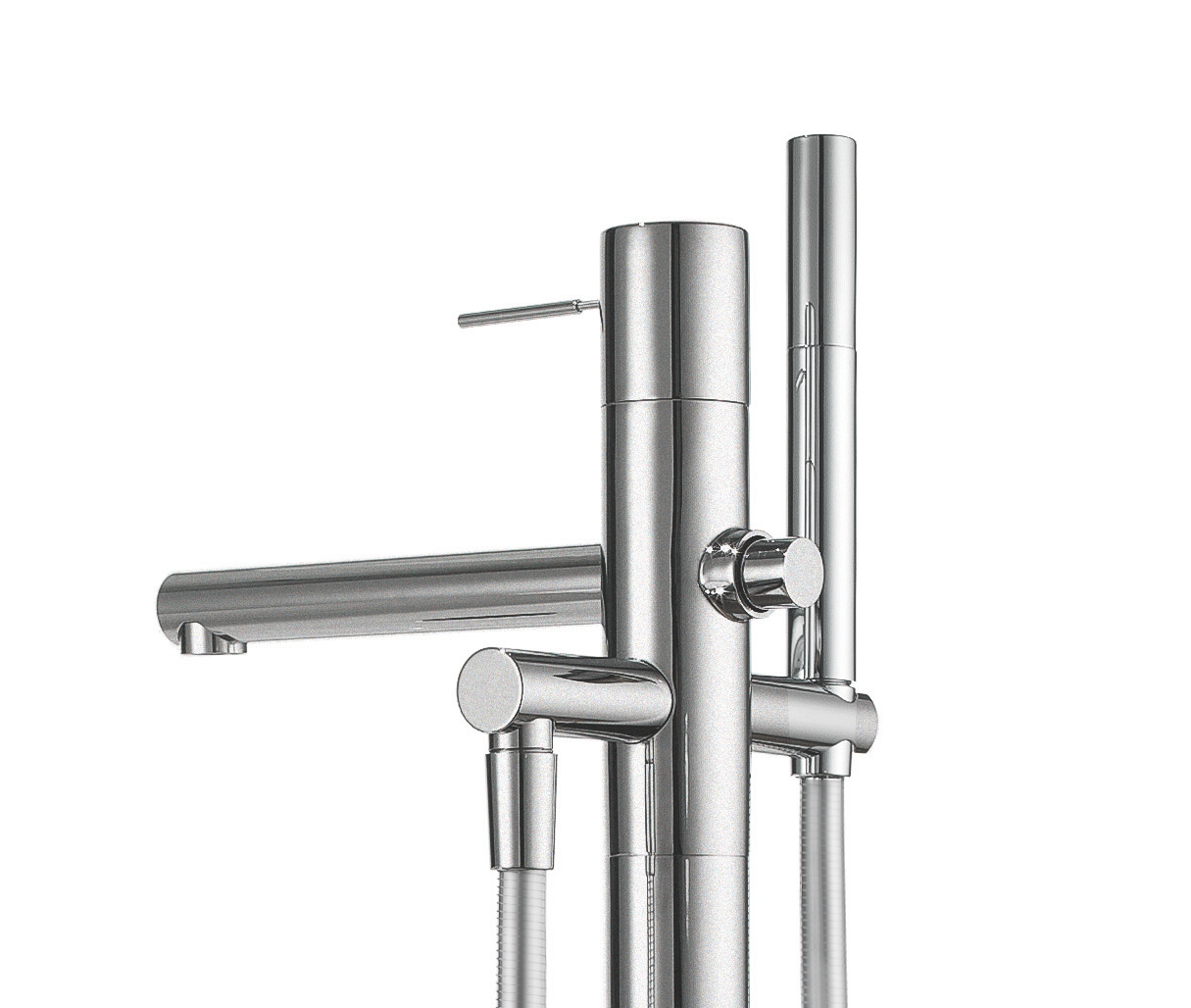 kwc ono tub filler now available in stainless steel finish