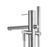 The KWC ONO Freestanding Tub Filler, with integral wand-style hand shower.
