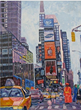 Times Square New York, an acrylic painting on canvas by Nashville-based artist Lucille Femine whose works are featured in an exhibit at the Church of Scientology & Celebrity Centre Nashville
