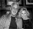 Lorrie Morgan and brother Marty who own RedHot Jingles enjoying times at The Opry in Nashville.