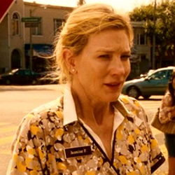 Cate Blanchett wears Mix It Up Cougar Mock Wrap Scrub Top