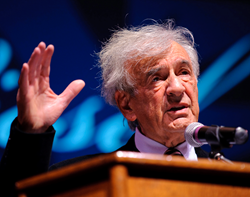 Elie Wiesel during a previous visit to Chapman University