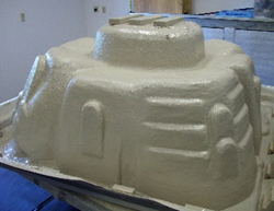 TSE-EcoSpray® Bio 550C applied to spa underbody