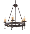 Elk Lighting Cambridge 5-light Chandelier In Moonlit Rust 14005-5