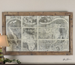 Uttermost Treasure Map Framed Art 34025