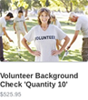 Volunteer background checks