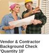 Contractor background checks.