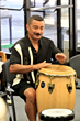 A student practices during the Conga Workshop offered by the Lucille Ball Desi Arnaz Center and Infinity Visual and Performing Arts in Jamestown, NY