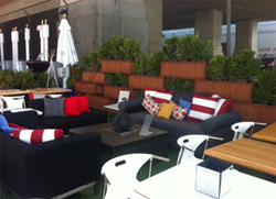 Comfortable seating at G Food Truck Lounge