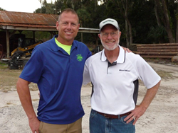 Pro Sawyer Dealer Chad Cordwin (left) with Wood-Mizer National Sales Manager Dave Mann.