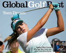 Lexi Thompson wearing Pacific Blue IonLoop sport bracelet.