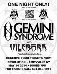 VileBorn with Gemini Syndrome at Revolution Amityville NY, 5/14/14