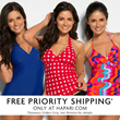 No Charge On Shipping For All Swimwear Orders from Hapari.com
