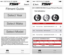 The TSW Fitment Guide is a robust application that helps users find the perfect wheel for their vehicle