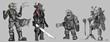 Titan Run characters.