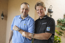 Breitling USA President Thierry Prissert and Ernie Els