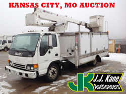 Kansas City, MO Public Auction Used bucket trucks, backhoes, pickup trucks