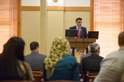 Dr. Omar Kittaneh, chairman of Palestine Energy Agency, addresses the similarities between Arizona and Palestinian energy struggles and needs.