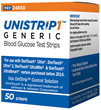 UniStrip Generic Blood Glucose Test Strips
