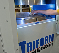 Steelville Manufacturing's new Triform Sheet Hydroforming Press