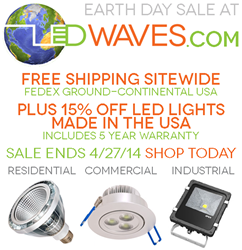 LED Waves Earth Day 2013 sale